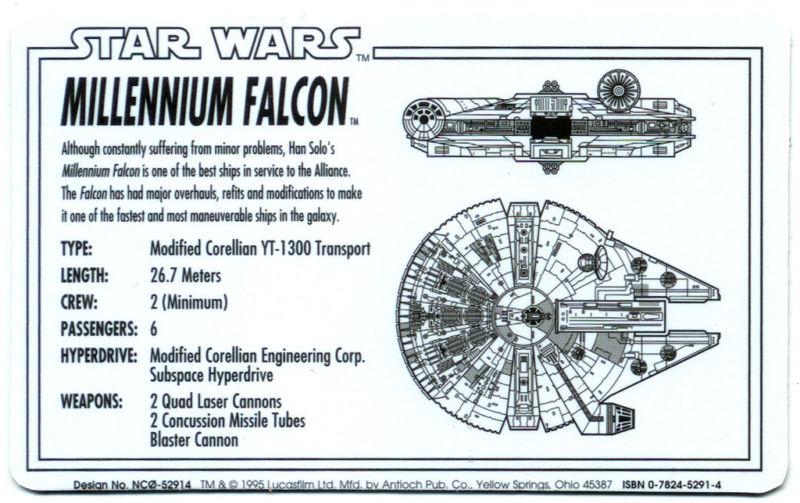 Millennium Falcon Wallet Card By Antioch Publishing