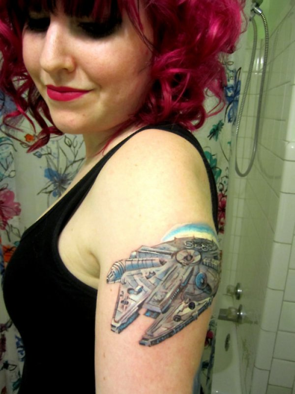 Millennium falcon tattoos mffanrodders 39 s blog for Matching star wars tattoos