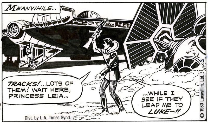 Comic in newspaper star strip war
