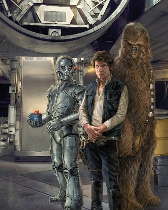 Bollux Blue Max Han Solo and Chewie by Chris Trevas