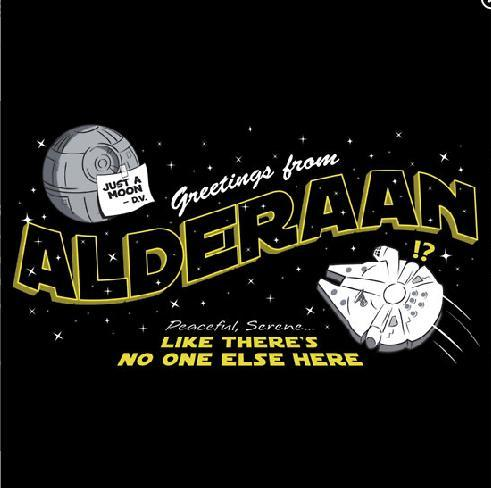 Greetings from Alderaan by Ryan Astle