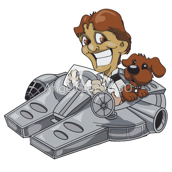 Han Solo and Puppy by Angelgirl21030