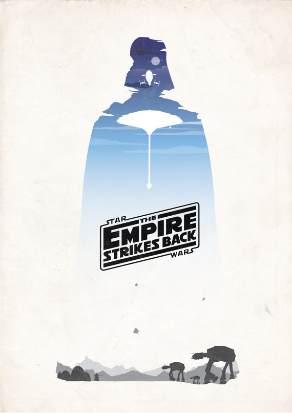 Empire Strikes Back by BGD Movie Posters