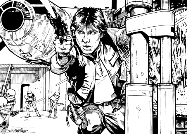 Han Solo Escape from Docking Bay 94 by Randy Martinez