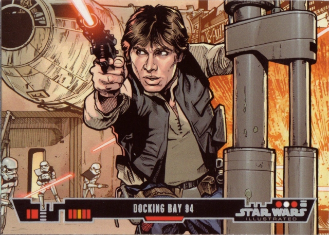Han Solo Escape from Docking Bay 94 Colour by Randy Martinez