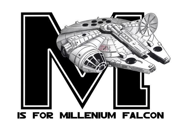M is for Millennium Falcon