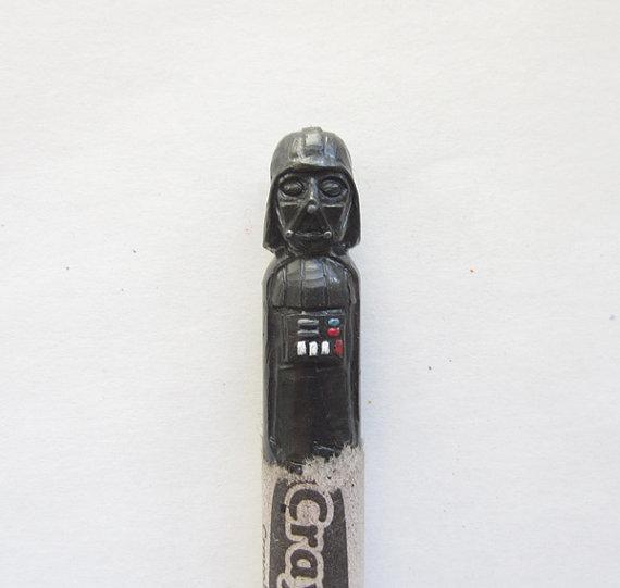 Carved Crayons Darth Vader