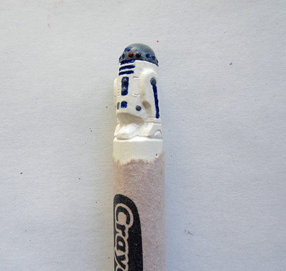 Carved Crayons R2D2