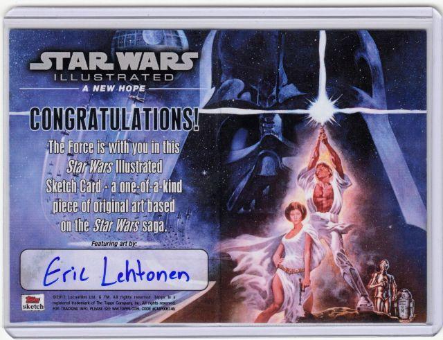 Eric Lehtonan Sketch Card Back