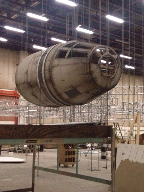 EXCLUSIVE Production work is underway on the set of the most eagerly anticipated Hollywood blockbuster for years; Star Wars Episode VII.