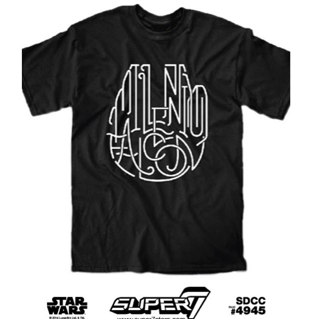 Millennium Falcon exclusive Super 7 tee shirt