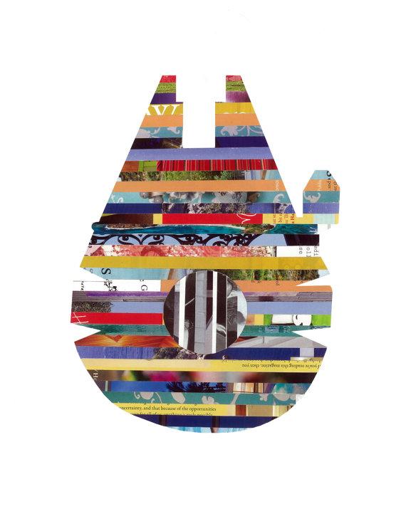 Millennium Falcon Strip Art