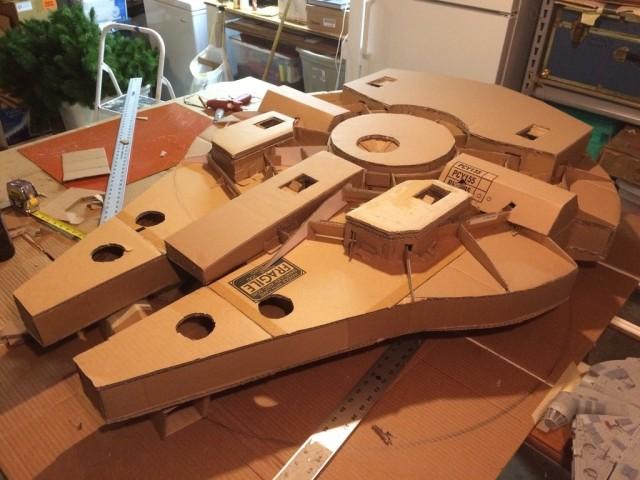 Cardboard Falcon 05