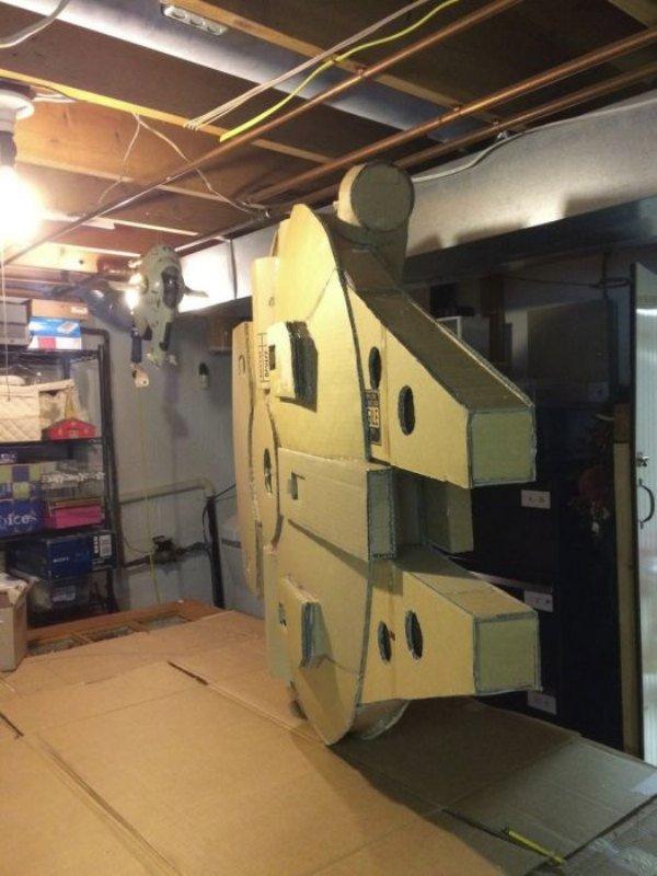Cardboard Falcon 14