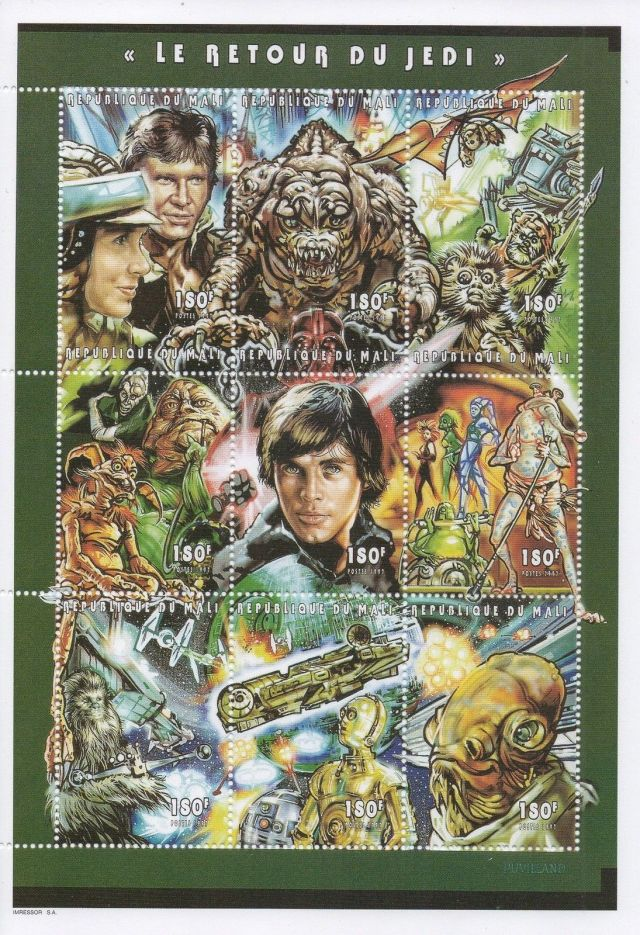 Mali Postage stamp sheet