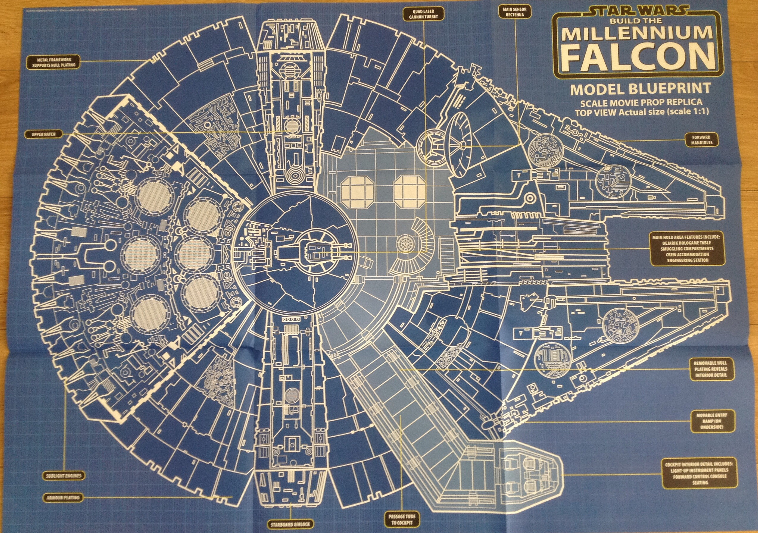 Deagostini falcon anyone seen this page 32 for Blueprint scale