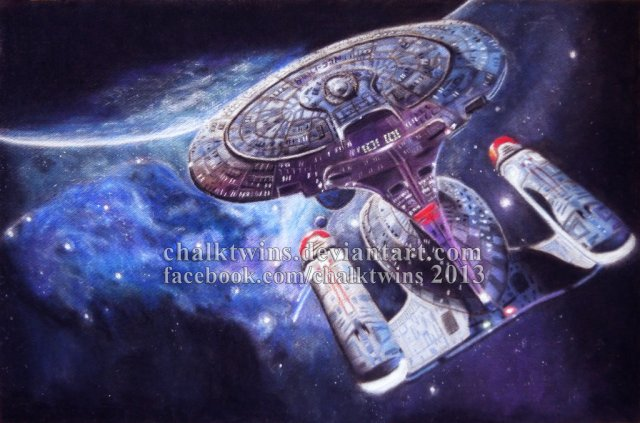 Chalktwins USS Enterprise