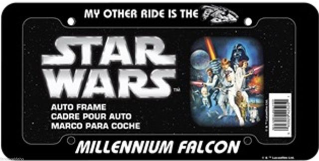 Millennium Falcon license plate