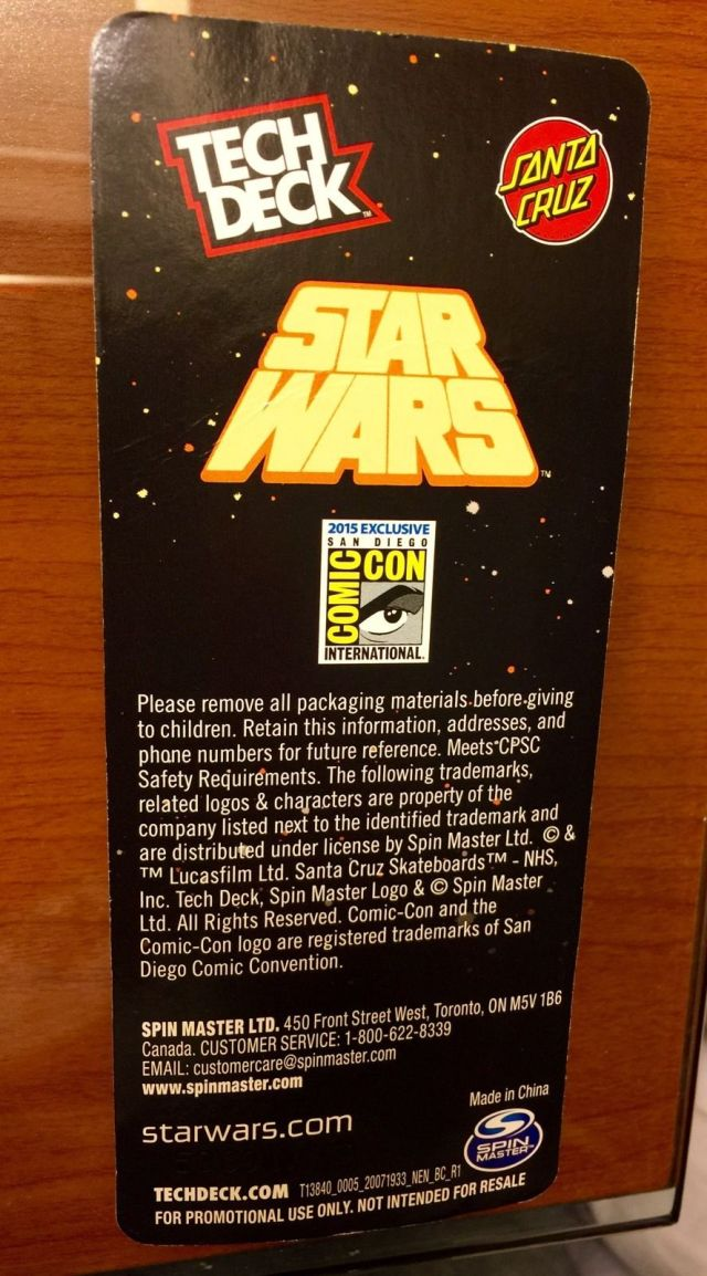 SDCC 2015 Santa Cruz Tech Deck 4