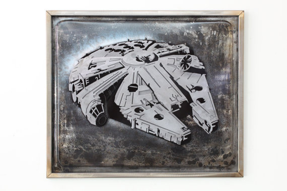 Laced Up Metal Millennium Falcon